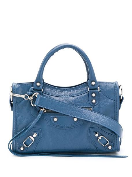 Balenciaga mini Classic City shoulder bag in blue