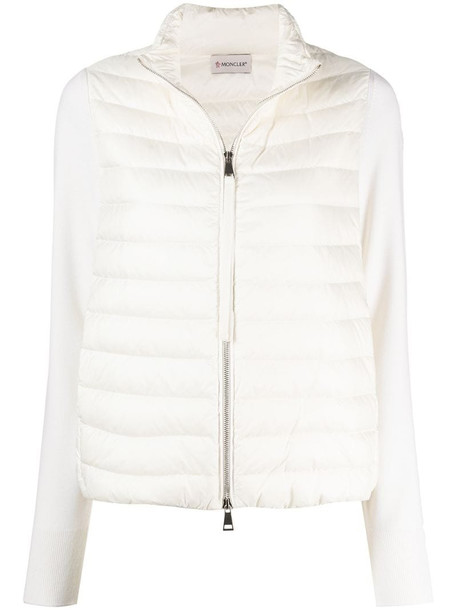Moncler padded chest jacket in neutrals
