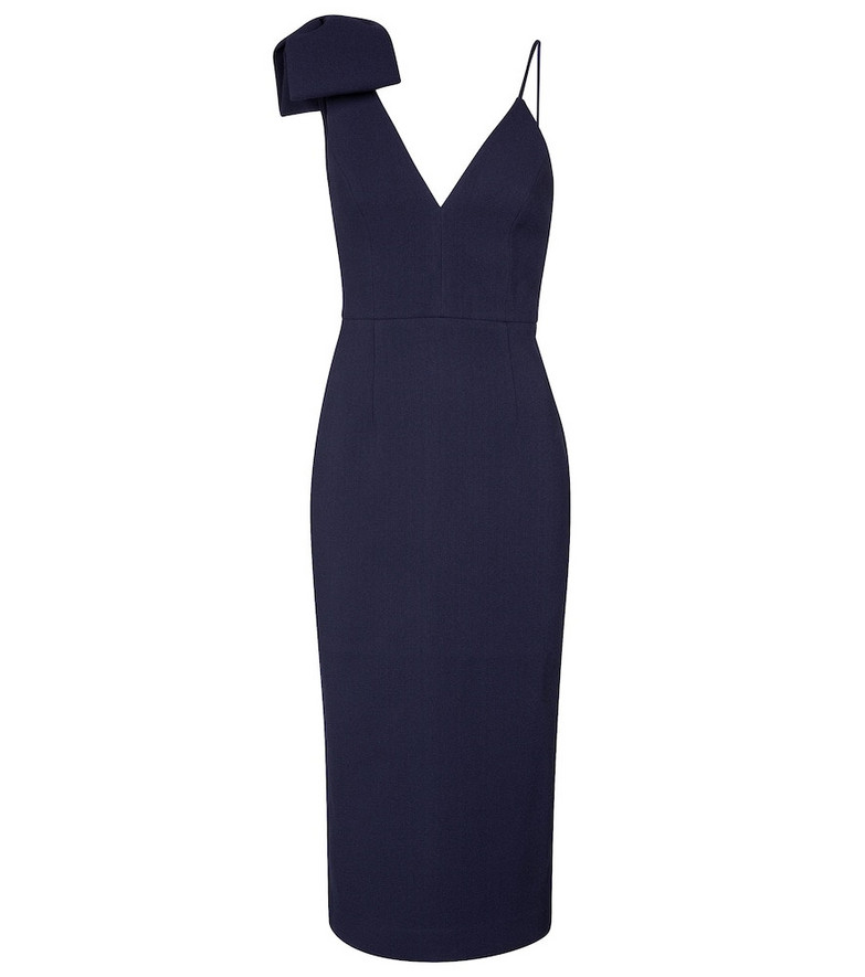 Rebecca Vallance Amore crêpe midi dress in blue