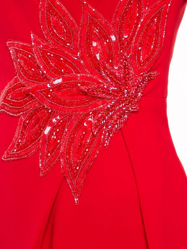 Saiid Kobeisy embellished waist gown in red