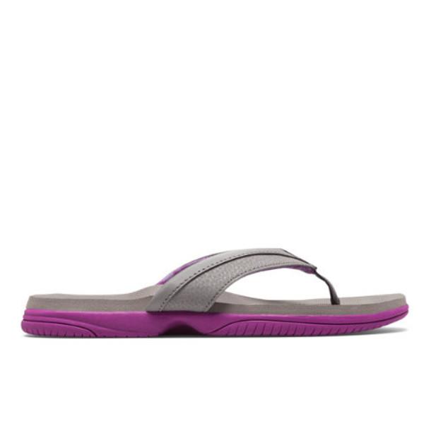 New Balance JoJo Thong Women's Flip Flops Shoes - Grey/Pink (W6090PKG)