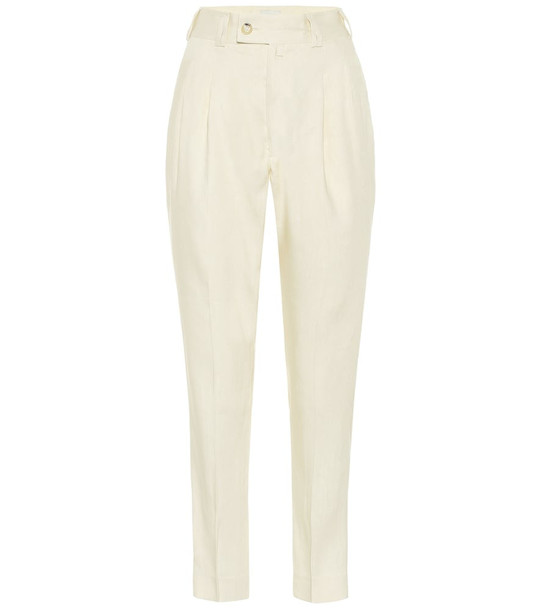 Arjé The Sabi linen-blend pants in beige