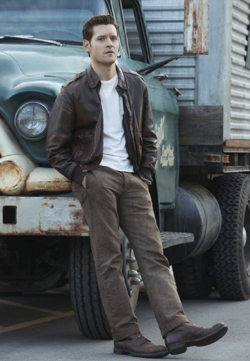 coat the man in the high castle luke kleintank menswear fashion menstyle outfit idea jacket