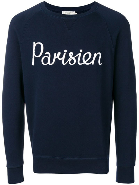 Maison Kitsuné Parisien print sweatshirt