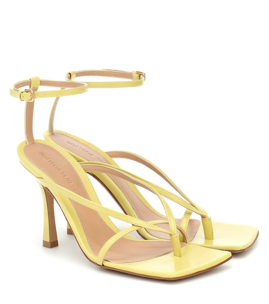 Bottega Veneta Stretch leather sandals in yellow