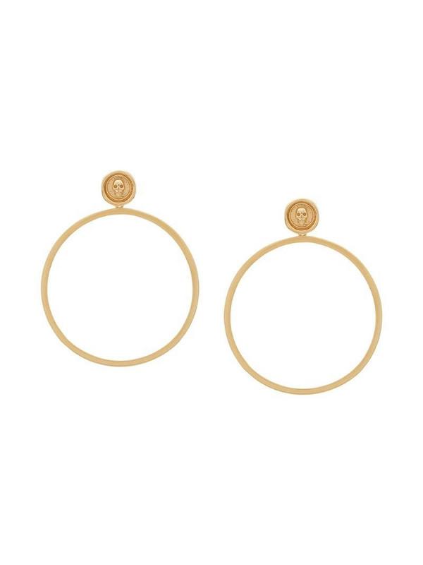 Northskull skull hoop earrings in gold