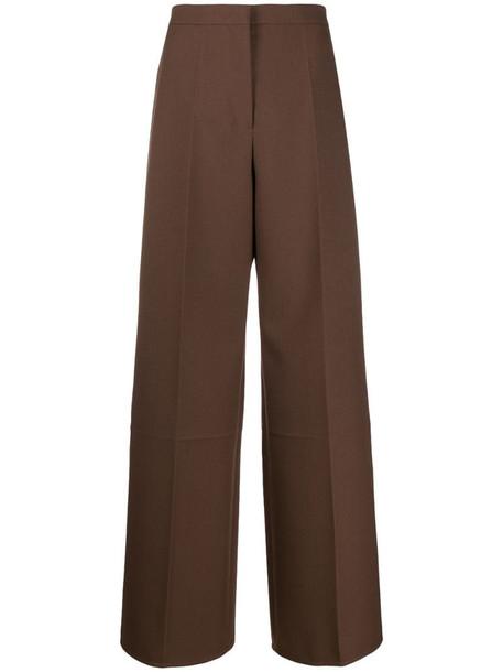 Jil Sander Leone wide-leg trousers in brown
