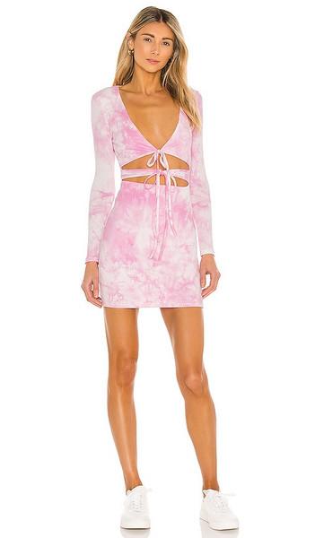 Lovers + Friends Lovers + Friends Justine Mini Dress in Pink