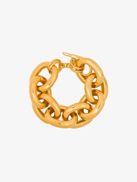 Kenneth Jay Lane gold tone Link chain bracelet