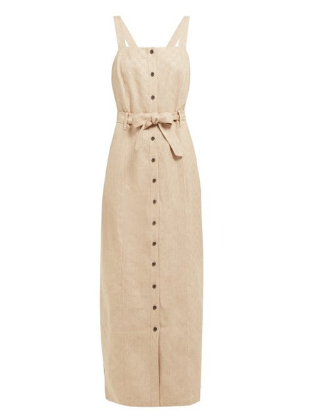 Mara Hoffman - Serena Checked Linen Dress - Womens - Beige