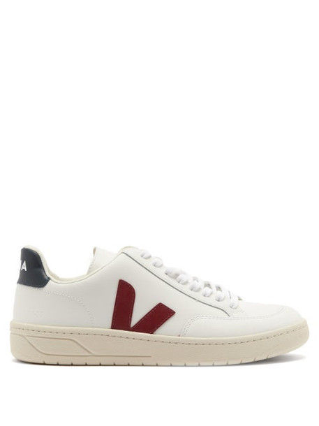 Veja - V-12 Leather Trainers - Womens - White Multi
