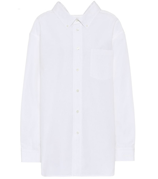 Balenciaga Swing cotton shirt in white