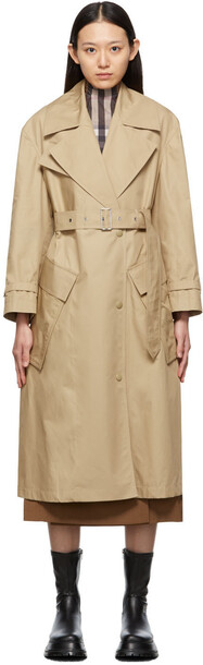 Burberry Beige Cotton Pocket Laxton Trench Coat