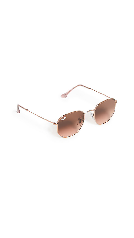 Ray-Ban Icons Hexagonal Sunglasses in brown / copper / pink