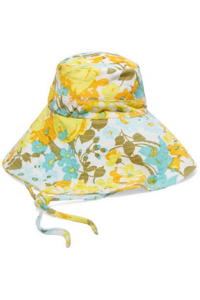 Faithfull The Brand - Floral-print Cotton-corduroy Bucket Hat - Blue