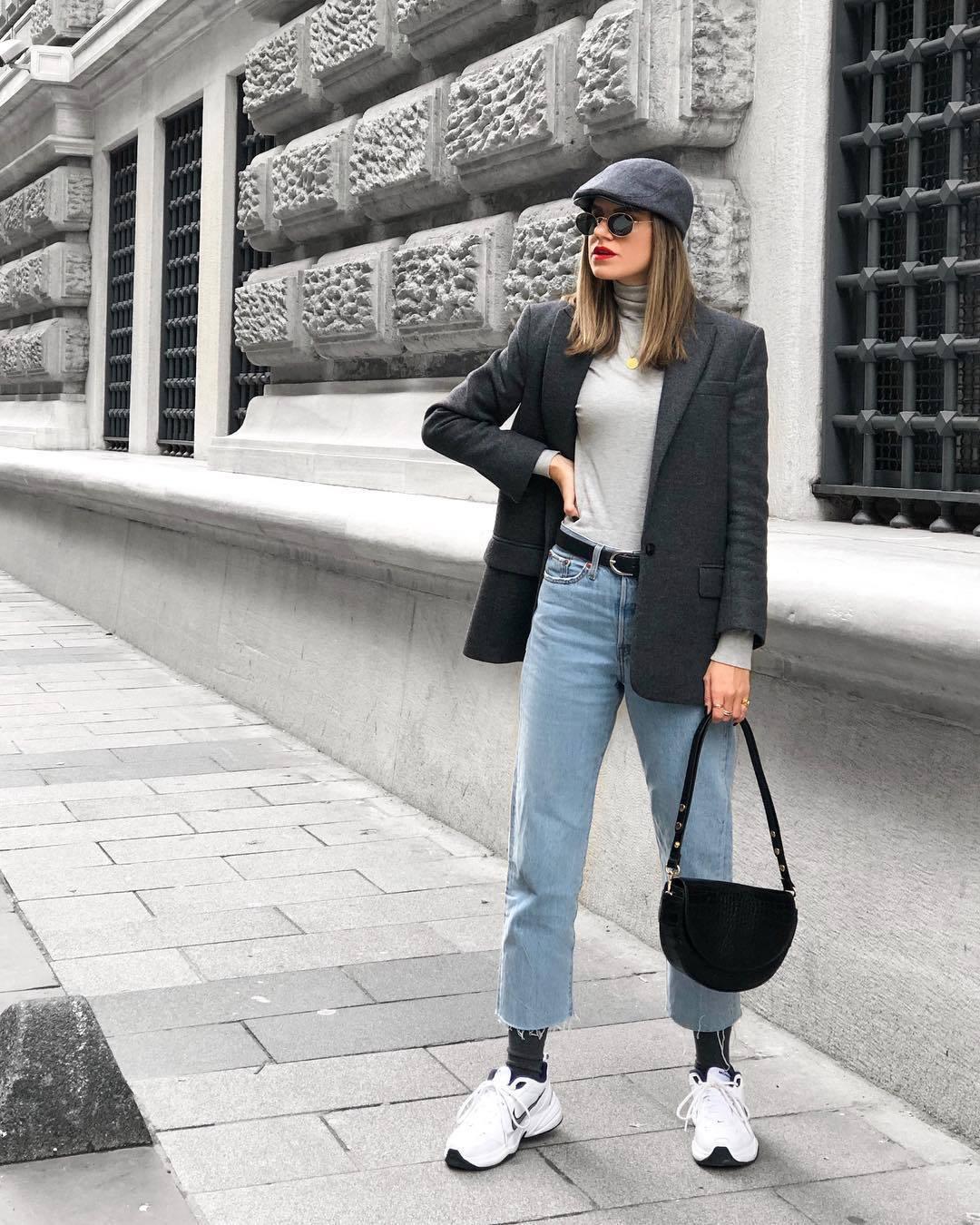jeans, black belt, hat - Wheretoget