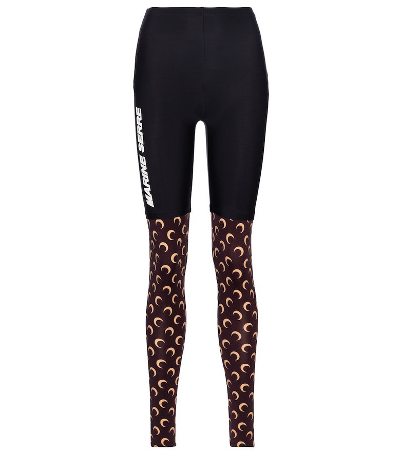 Marine Serre Exclusive to Mytheresa – Printed stretch-jersey leggings in brown