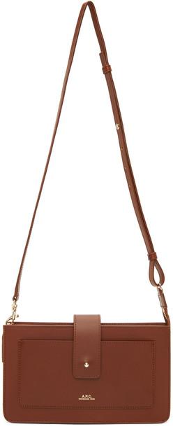 A.P.C. A.P.C. Brown Albane Clutch Bag