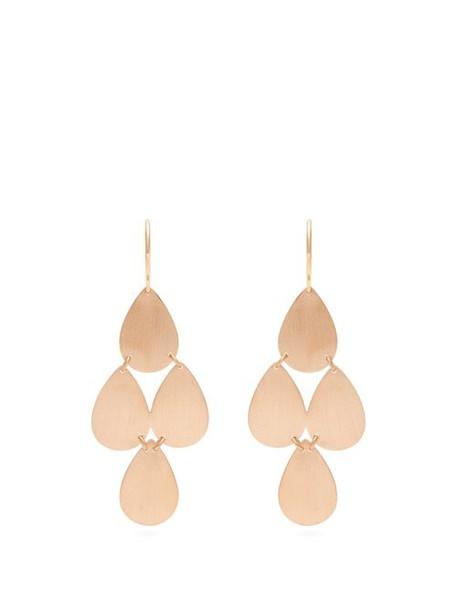 Irene Neuwirth - Rose Gold Chandelier Earrings - Womens - Rose Gold
