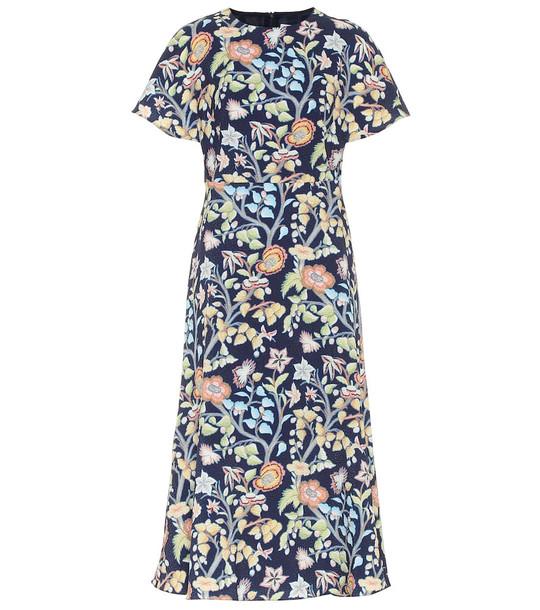 Peter Pilotto Floral midi dress in blue
