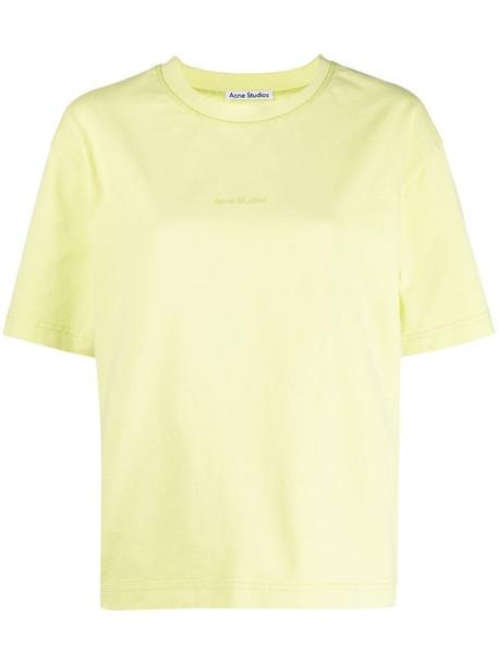 Acne Studios logo print short-sleeve T-shirt in green