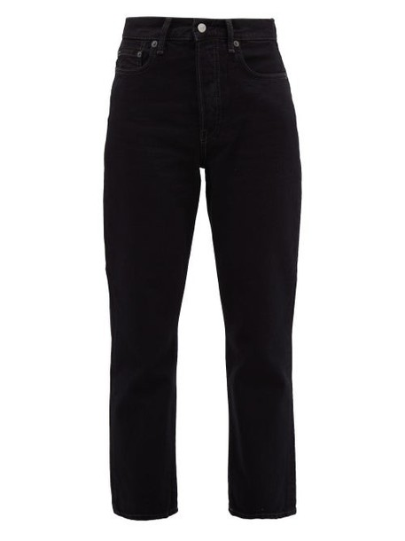 Acne Studios - Mece Straight Leg Cropped Jeans - Womens - Black