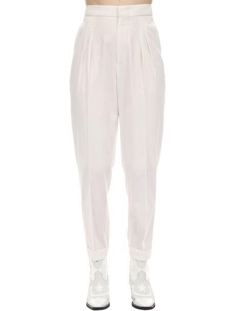 ISABEL MARANT Pelisso Wool Suit Pants in white