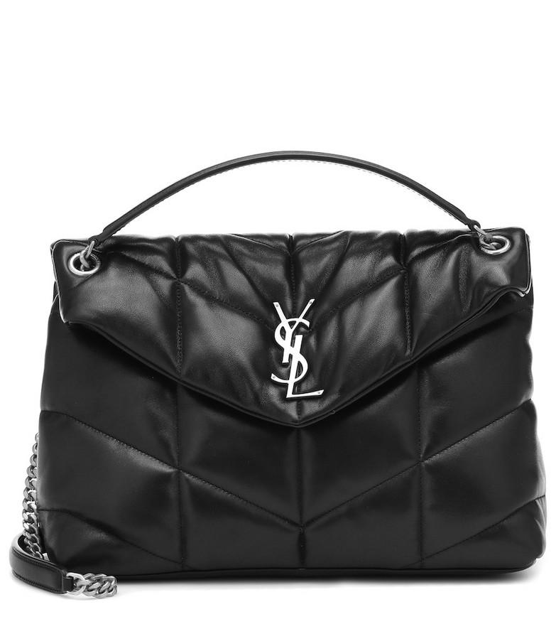 Saint Laurent Loulou Puffer Medium shoulder bag in black