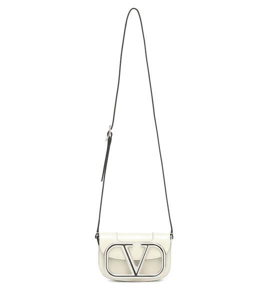 Valentino Garavani Supervee Small leather shoulder bag in white