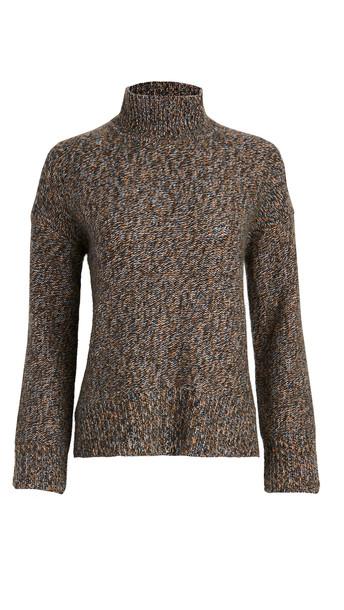 Theory Karenia Marled Cashmere Sweater in denim / multi / denim