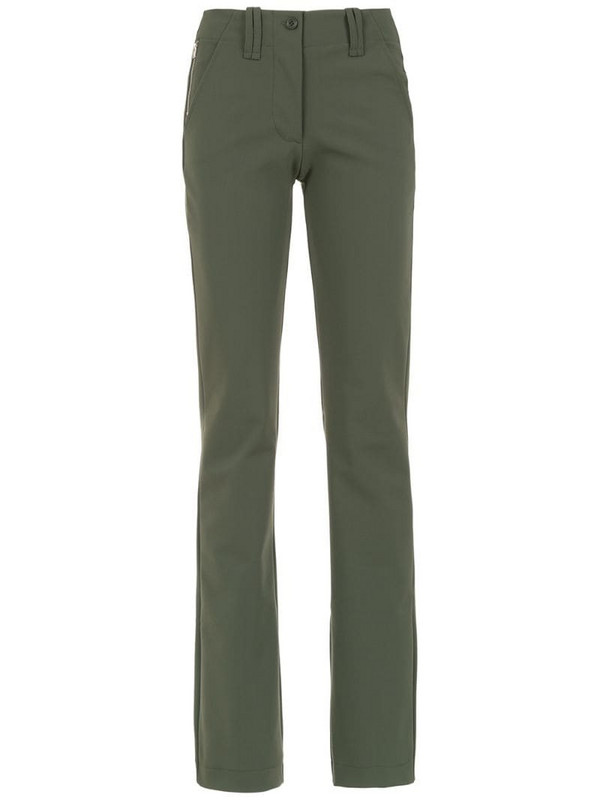 Gloria Coelho straight pants in green