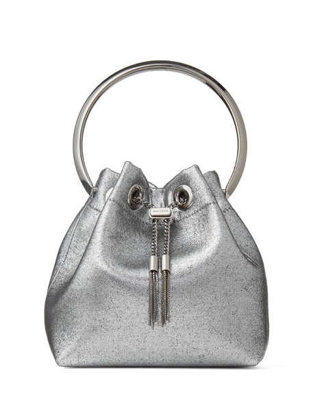 Jimmy Choo tassel-detail Bon Bon tote bag in silver