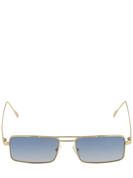 REWOP MILANO Virgin Squared Metal Sunglasses in blue / gold
