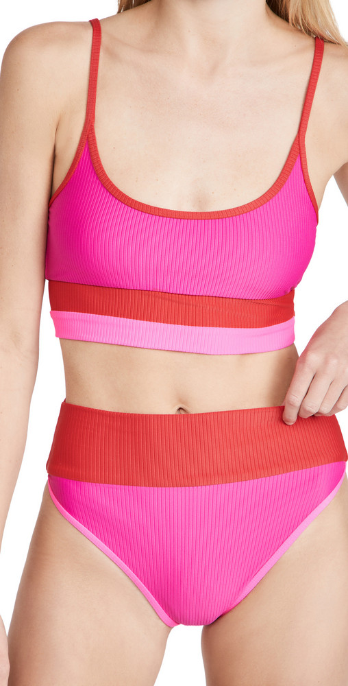 Beach Riot Eva Top in pink / red