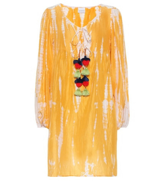 Anna Kosturova Exclusive to Mytheresa – Tie-dye silk dress in yellow