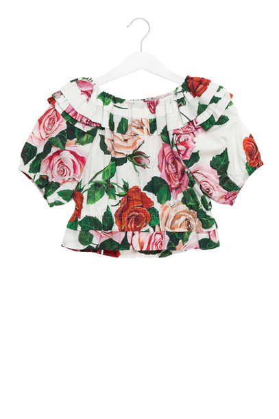 Dolce & Gabbana Rose Printed Top