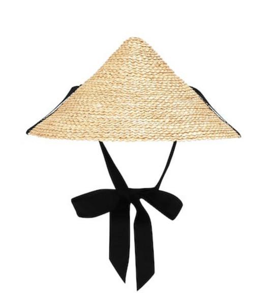 Lola Hats Pinecone straw hat in beige / beige
