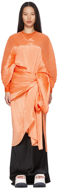 Pleats Please Issey Miyake Orange Bouquet Colors Madame T Scarf