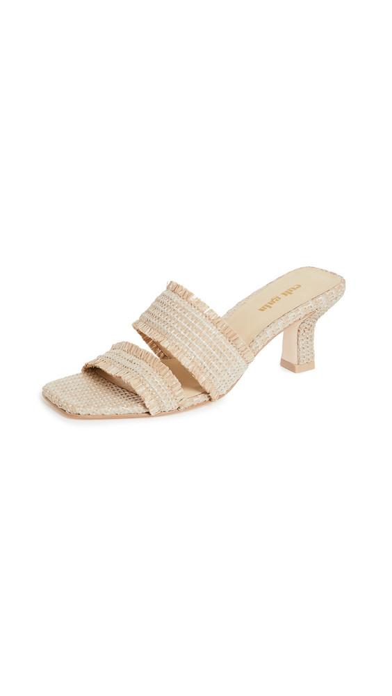 Cult Gaia Fae Sandals in cream
