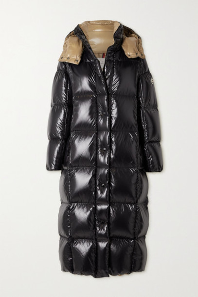 Moncler - Parnaiba Hooded Quilted Glossed-shell Down Coat - Black