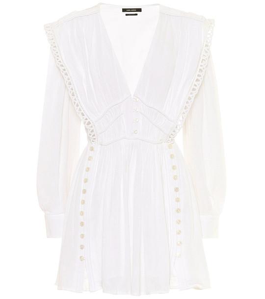 Isabel Marant Yaxo cotton minidress in white