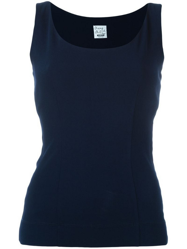 Moschino Pre-Owned classic tank top in blue