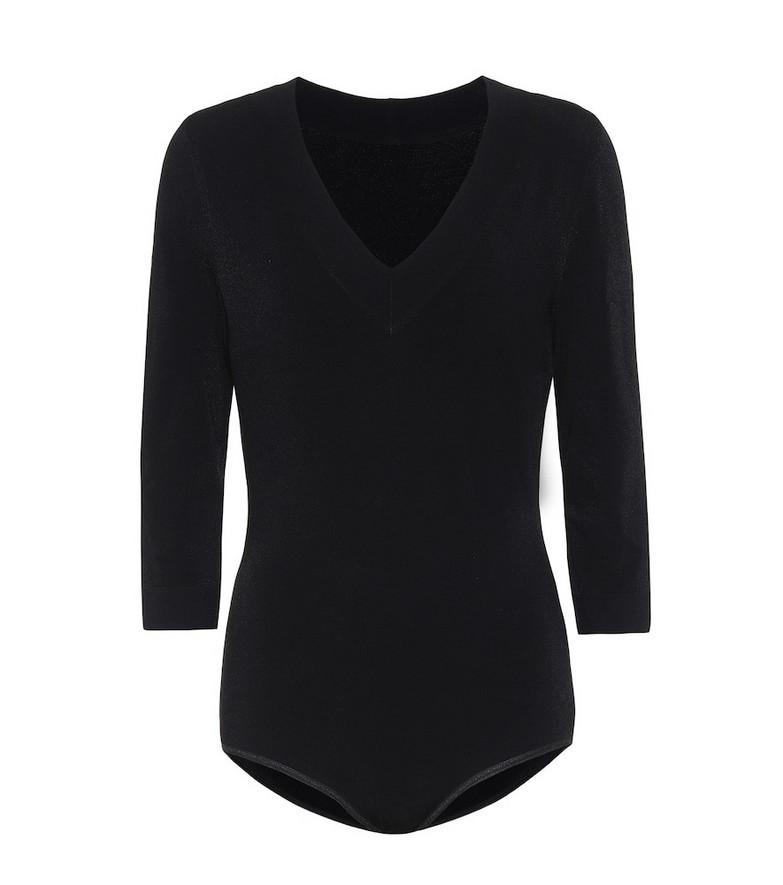 Alaïa Stretch-knit bodysuit in black