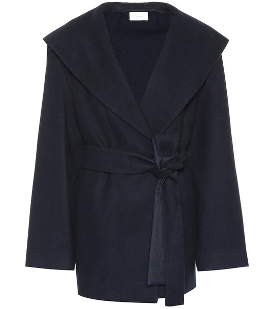 The Row Reyna cotton and wool jacket in blue
