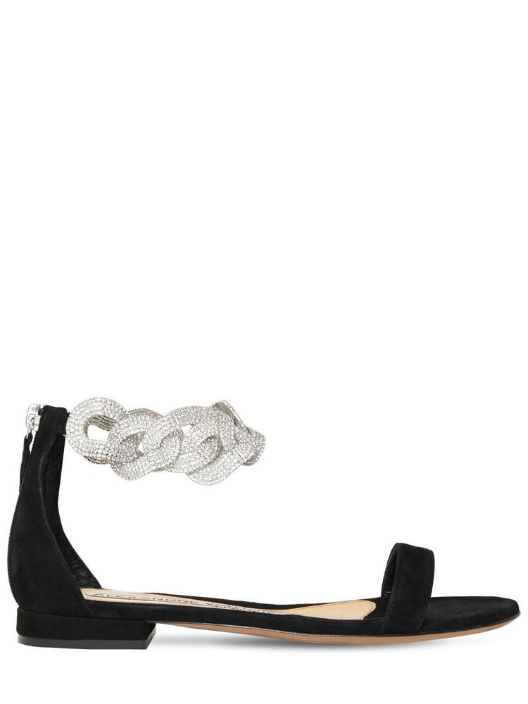 ALEXANDRE VAUTHIER 15mm Suede Flat Sandals in black
