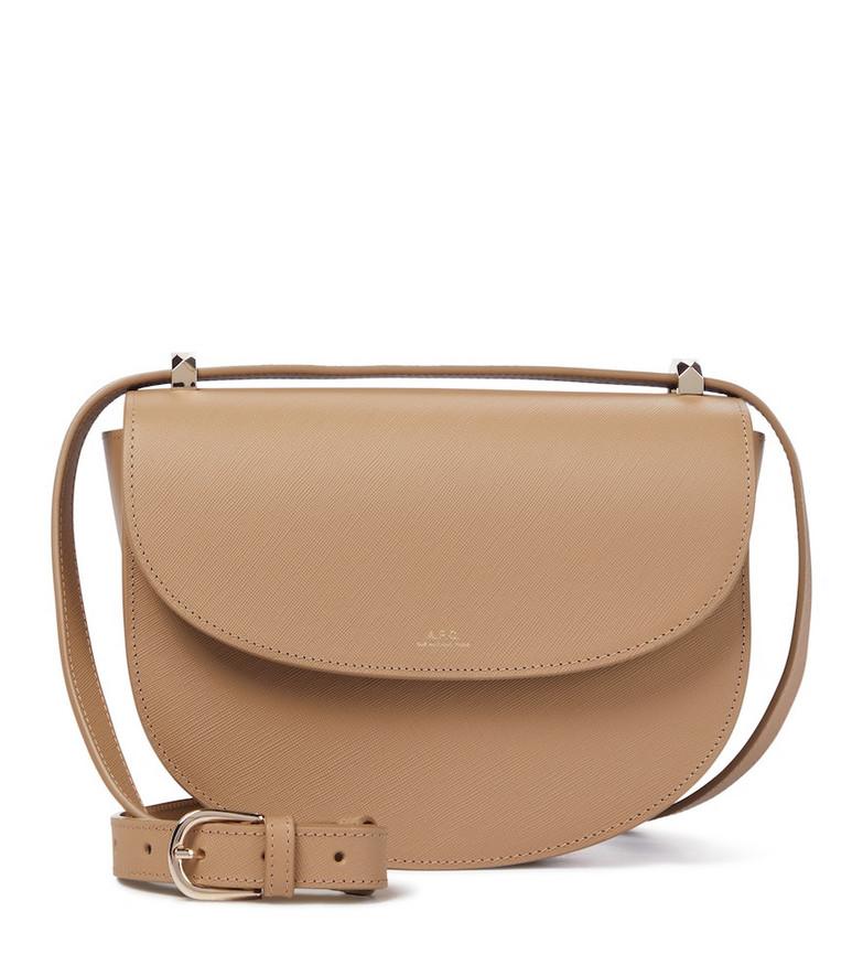 A.P.C. Genève leather shoulder bag in beige