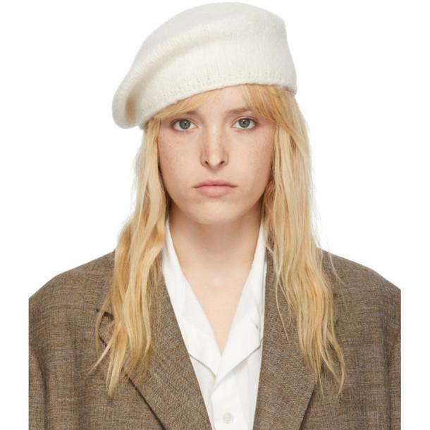 Lauren Manoogian SSENSE Exclusive Off-White Alpaca Beret