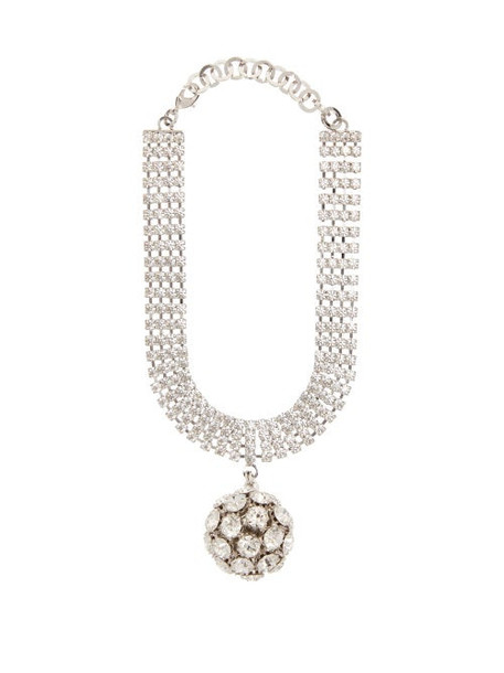 Alessandra Rich - Crystal Embellished Sphere Choker - Womens - Crystal