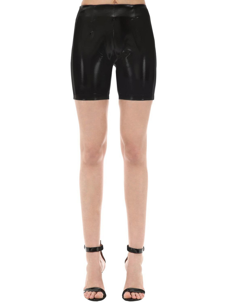 GCDS Vinyl Biker Shorts in black