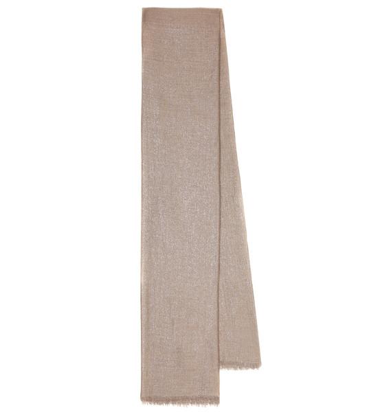 Brunello Cucinelli Lurex® and cashmere-blend scarf in brown